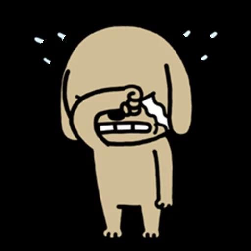 Chocolate Dog messages sticker-2