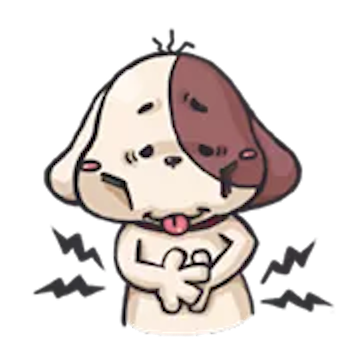 Milk and Chocolate Dog messages sticker-1
