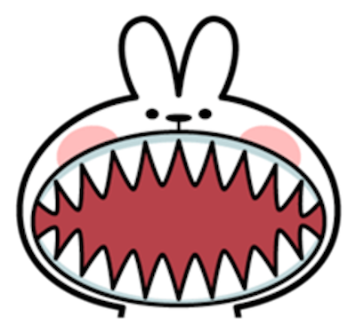 Cool Rabbit Face messages sticker-10