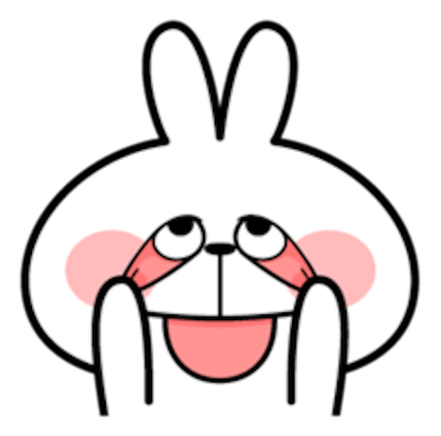 Cool Rabbit Face messages sticker-2