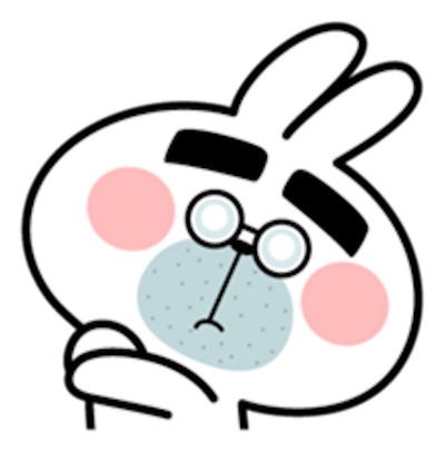 Cool Rabbit Face messages sticker-8