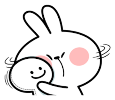 Cool Rabbit Face messages sticker-6