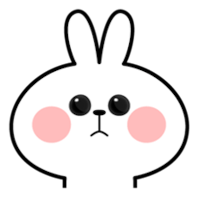 Cool Rabbit Face messages sticker-5