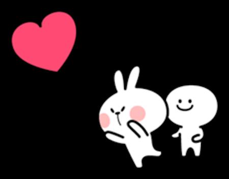 Cool Rabbit Love messages sticker-8
