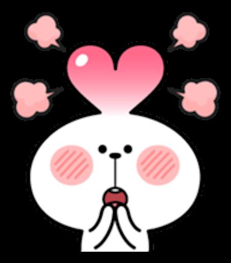 Cool Rabbit Love messages sticker-2