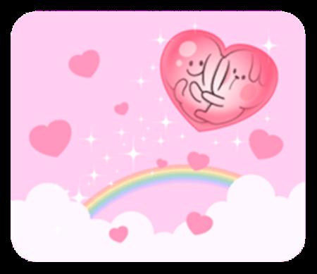 Cool Rabbit Love messages sticker-1