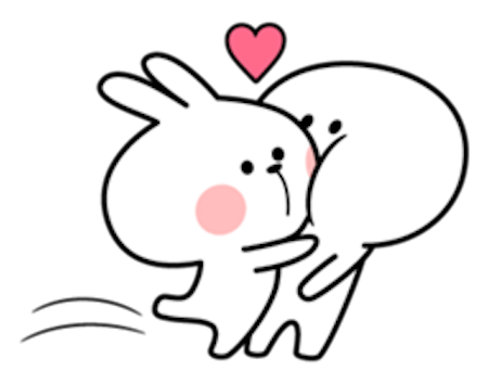 Cool Rabbit Love messages sticker-7