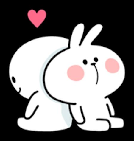 Cool Rabbit Love messages sticker-4