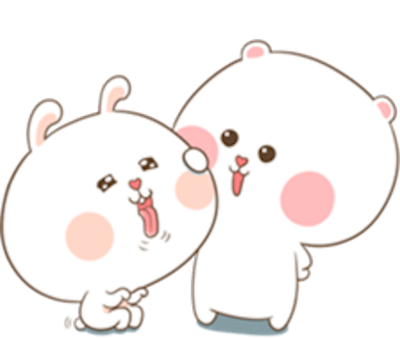 Bear and Rabbit Love messages sticker-7