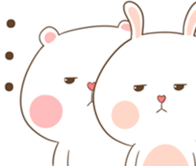 Bear and Rabbit Love messages sticker-10
