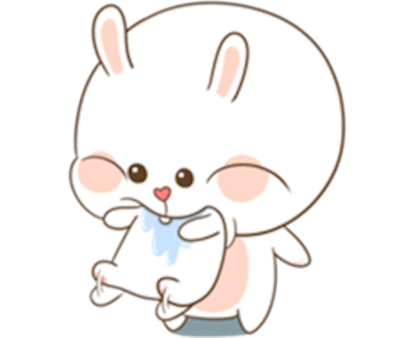 Bear and Rabbit Love messages sticker-11