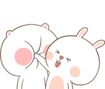 Bear and Rabbit Love messages sticker-0