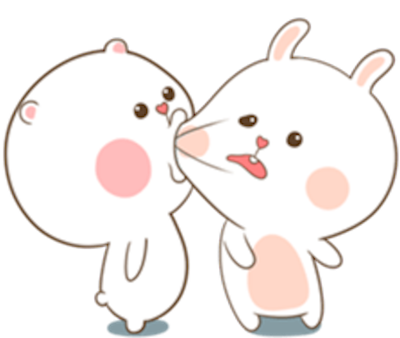 Bear and Rabbit Love messages sticker-2