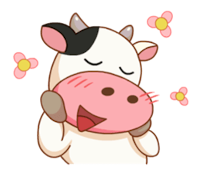 Milk Cow Sticker messages sticker-9