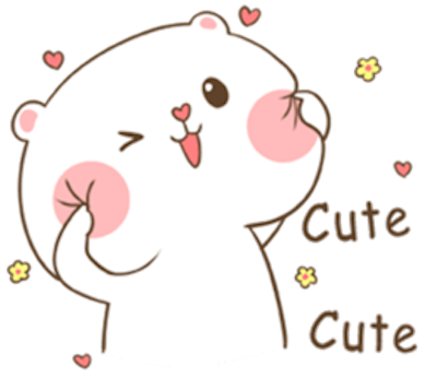 Lovely Fluffy Bear messages sticker-0