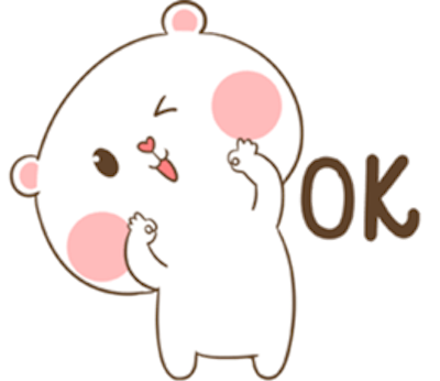 Lovely Fluffy Bear messages sticker-2