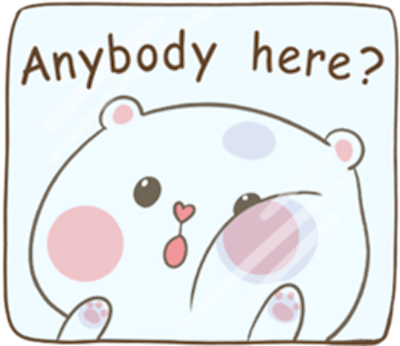 Lovely Fluffy Bear messages sticker-3