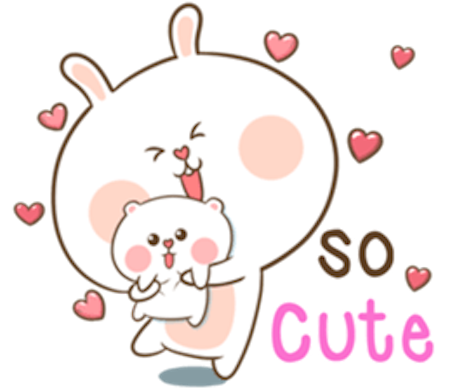 Fluffy Rabbit Love messages sticker-8