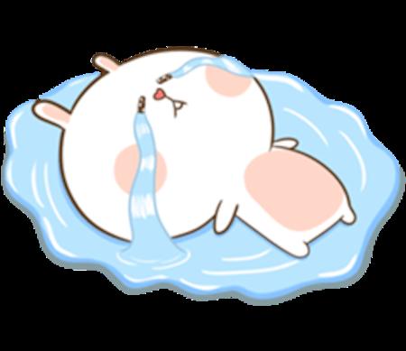 Fluffy Rabbit Love messages sticker-10