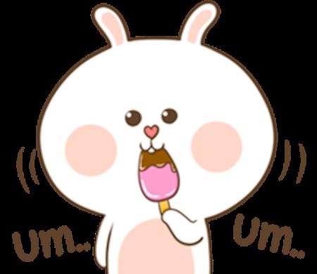 Fluffy Rabbit Love messages sticker-1
