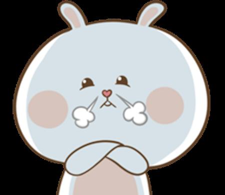 Fluffy Rabbit Love messages sticker-0