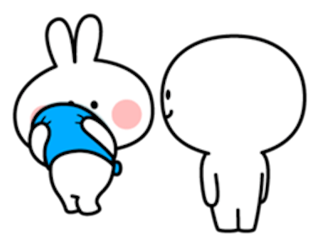 Cool Rabbit Family messages sticker-4