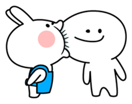 Cool Rabbit Family messages sticker-2