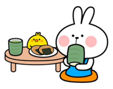 Cool Rabbit Family messages sticker-0