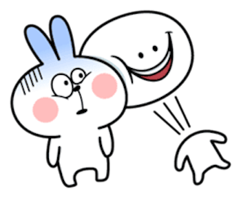 Cool Rabbit and Smiles messages sticker-11