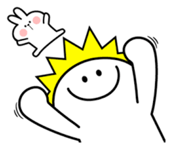 Cool Rabbit and Smiles messages sticker-0