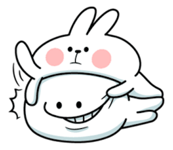 Cool Rabbit and Smiles messages sticker-3