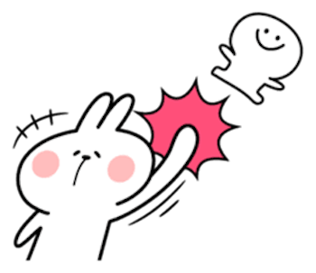 Cool Rabbit and Smiles messages sticker-9