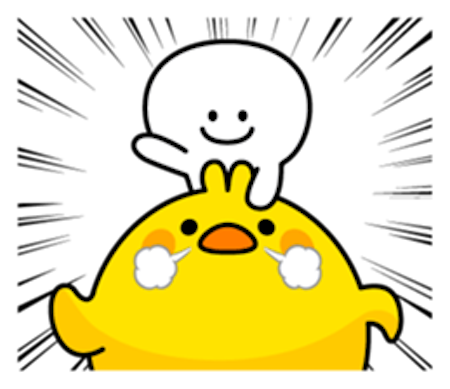 Cool Rabbit and Tiny Smiles messages sticker-1