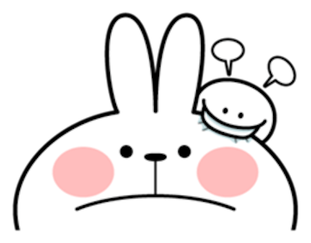 Cool Rabbit and Tiny Smiles messages sticker-10