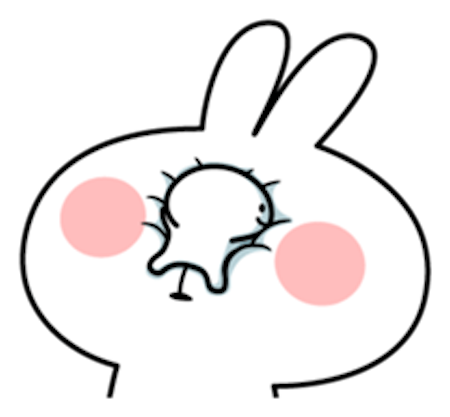 Cool Rabbit and Tiny Smiles messages sticker-7