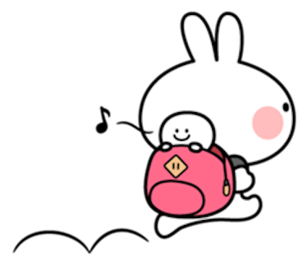 Cool Rabbit and Tiny Smiles messages sticker-9
