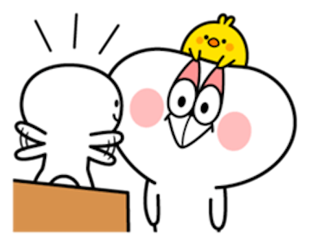 Cool Rabbit and Tiny Smiles messages sticker-3