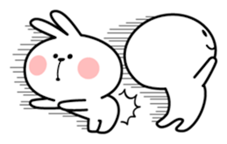 Cool Rabbit and Friends messages sticker-7