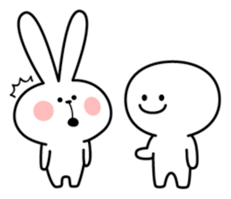 Cool Rabbit and Friends messages sticker-0