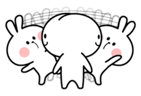 Cool Rabbit and Friends messages sticker-4