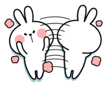 Cool Rabbit Lovely messages sticker-8