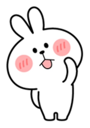 Cool Rabbit Lovely messages sticker-7
