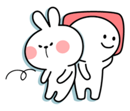 Cool Rabbit Lovely messages sticker-1