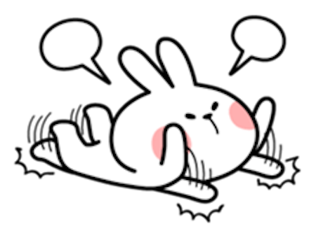 Cool Rabbit Lovely messages sticker-0