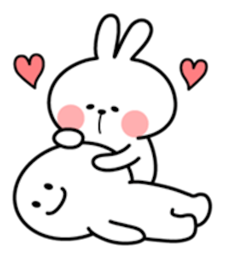 Cool Rabbit Lovely messages sticker-2