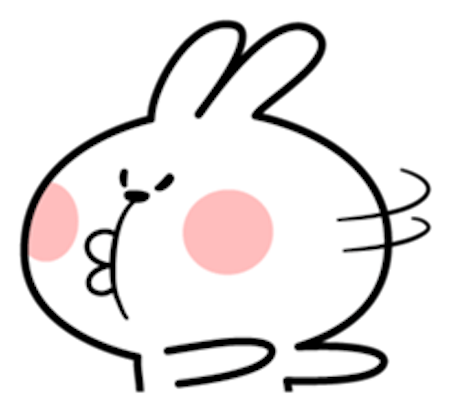 Cool Rabbit Facial Emoji messages sticker-11