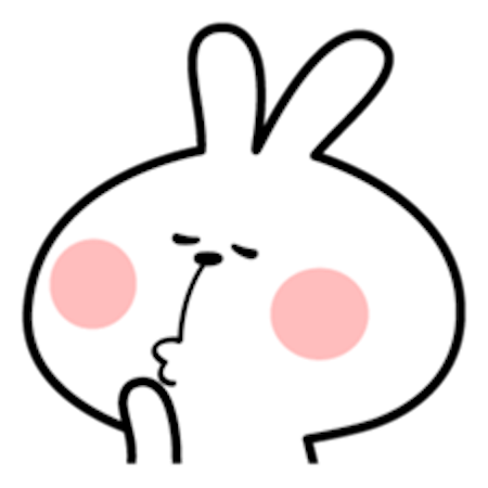 Cool Rabbit Facial Emoji messages sticker-3