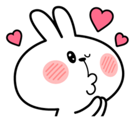 Cool Rabbit Facial Emoji messages sticker-1
