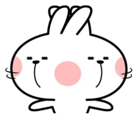 Cool Rabbit Facial Emoji messages sticker-7