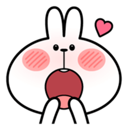 Cool Rabbit Facial Emoji messages sticker-10